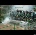 Wpadka cyklistów - JAK LAWINA!