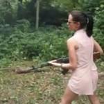 Prawie zastrzeliła swojego chłopaka!