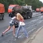 Jak Rosjanie przechodzą przez ulicę?