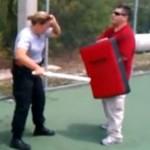 POLICJA - ćwiczenia z gazem pieprzowym