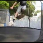 Na desce na trampolinie!?
