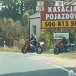 Motocyklista jedzie 170 km/h