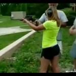 Myślała, że strzelanie to pikuś