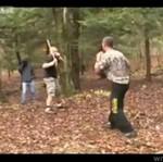 Zorganizowali sobie własny fight club - w lesie!