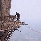 Tak buduje się górskie drogi w Chinach
