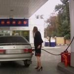 Kobieta na stacji bezynowej - ZGROZA!