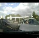 Zderzenie samochodów - z bliska!
