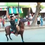 Koń pozbył się jeźdźca!