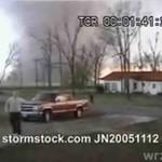 Tornado z bardzo, bardzo bliska!