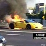 Lamborghini Gallardo płonie!