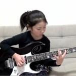 8-letnia japońska bogini gitary