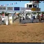 SZALONY koń na rodeo!