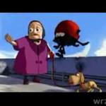 Starsza pani i jej kotek- bandyta