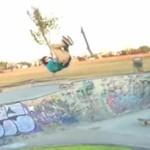 Niesamowity skateboardowy trick