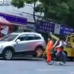 Desperatka nie chciała oddać auta!