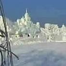 Chiśka rzeźba ze śniegu - NIEZWYKŁA!
