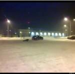 Zimowa szaleństwo na parkingu