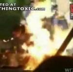 Aktor stanął w płomieniach!