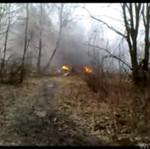 Pierwsze nagranie z miejsca katastrofyw Smoleńsku - AMATORSKIE!