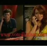 Lindsay przy telefonie