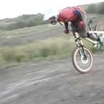 Lot rowerem - AUĆ!