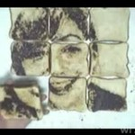 Sztuka z tostów i czekolady