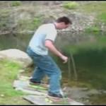 Wynalazł sprzęt do chodzenia po wodzie!