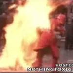 Nieudana prezentacja technik przeciwpożarowych