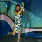 Rosjanka tańczyna rurze!