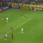 Gol w meczu Polska - Niemcy
