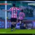 Strzelił gola i złamał nogę!