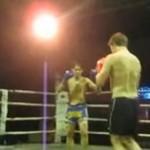 Pijany amator vs wojownik muay thai
