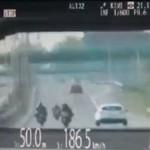 Piraci na motocyklach - 220 km/h koło Warszawy