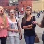 Dziewczyny z Rosji śpiewają piosenkę ludową