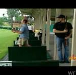 Strzelec na polu golfowym - ZOBACZ REAKCJĘ!
