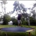 Wpadka na trampolinie - uwaga, krew!
