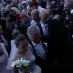 Walka paparazzi na ślubie Kwaśniewskiej