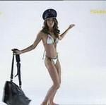 Weronika Rosati w kostiumie kąpielowym