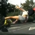 Zderzenie z motocyklistą - KOSZMAR!