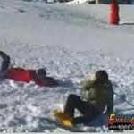Zderzenie narciarzy na stoku!