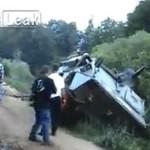 Wypadek drogowy - wersja wojskowa