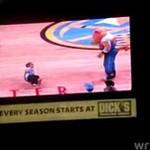 Dzieciak dał popis w przerwie meczu
