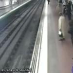 Bohater URATOWAŁ mężczyznę w metrze