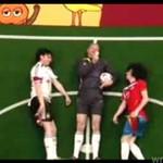 Mecz piłkarski... w poziomie!