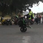 Epicka wpadka motocyklisty