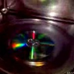 Płyta CD w mikrofalówce