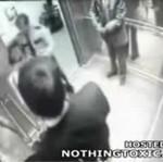 Wyciągnął broń w windzie