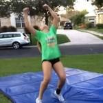 Potworna wpadka cheerleaderki