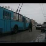 Szalony kierowca trolejbusa