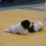 Walka judo małych dziewczynek